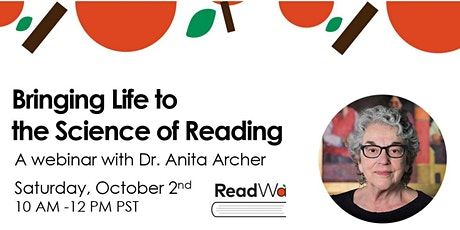 Bringing Life to the Science of Reading with Dr. Anita Archer tickets