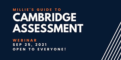 WEBINAR | Millie's Guide to Cambridge Assessment tickets