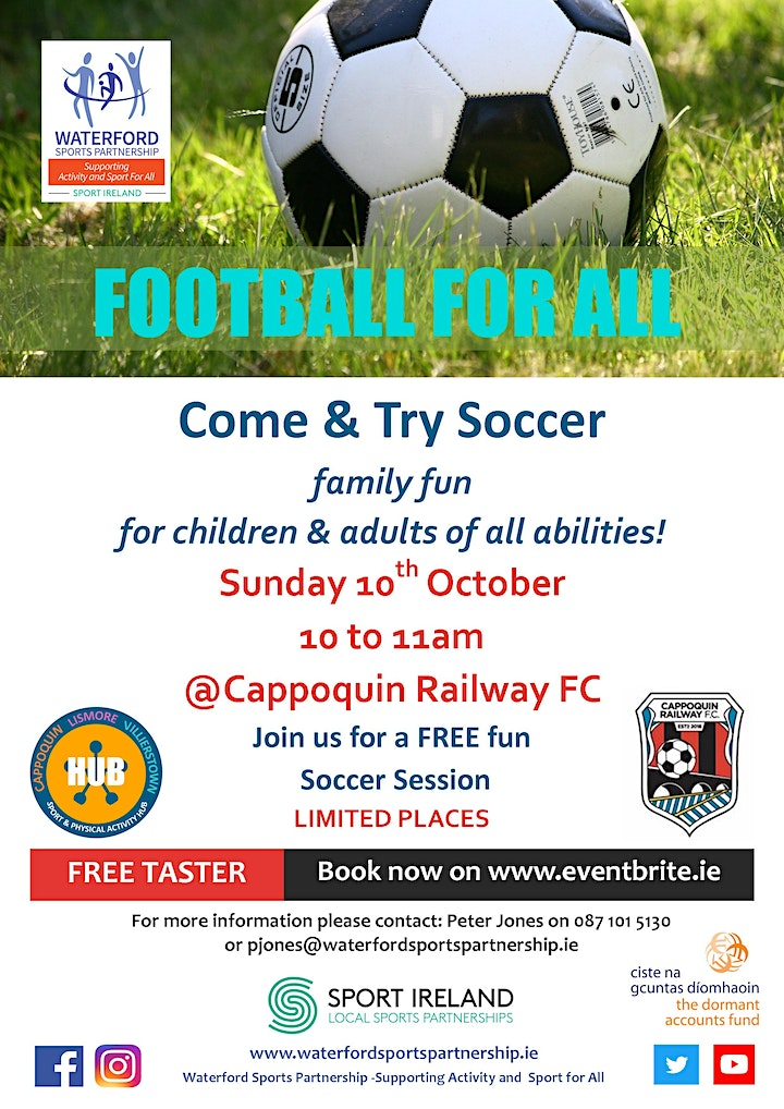 Come & Try -  Football for ALL (for adults & children of all abilities) image