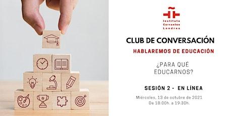 Club de Conversación en español - Sesión 2 boletos
