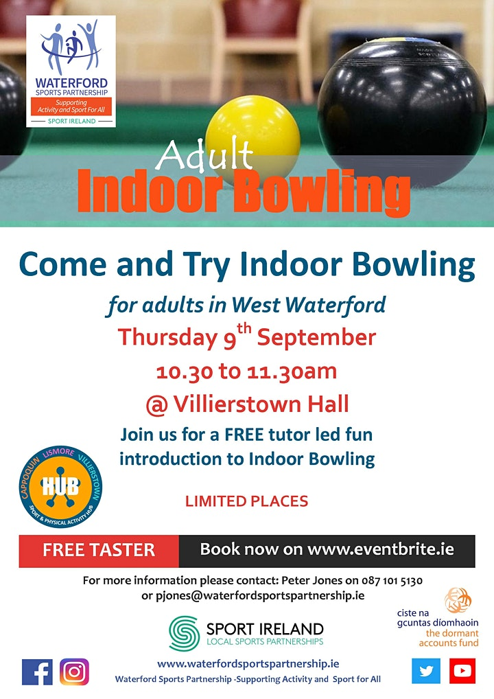 Come & Try It  -Indoor Bowling - for Adults in West Waterford image