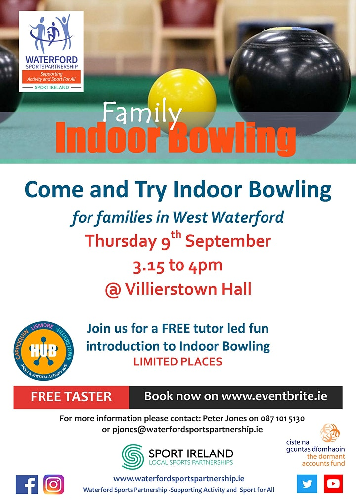 Come & Try Indoor Bowling (for families with children aged 6 - 14) image