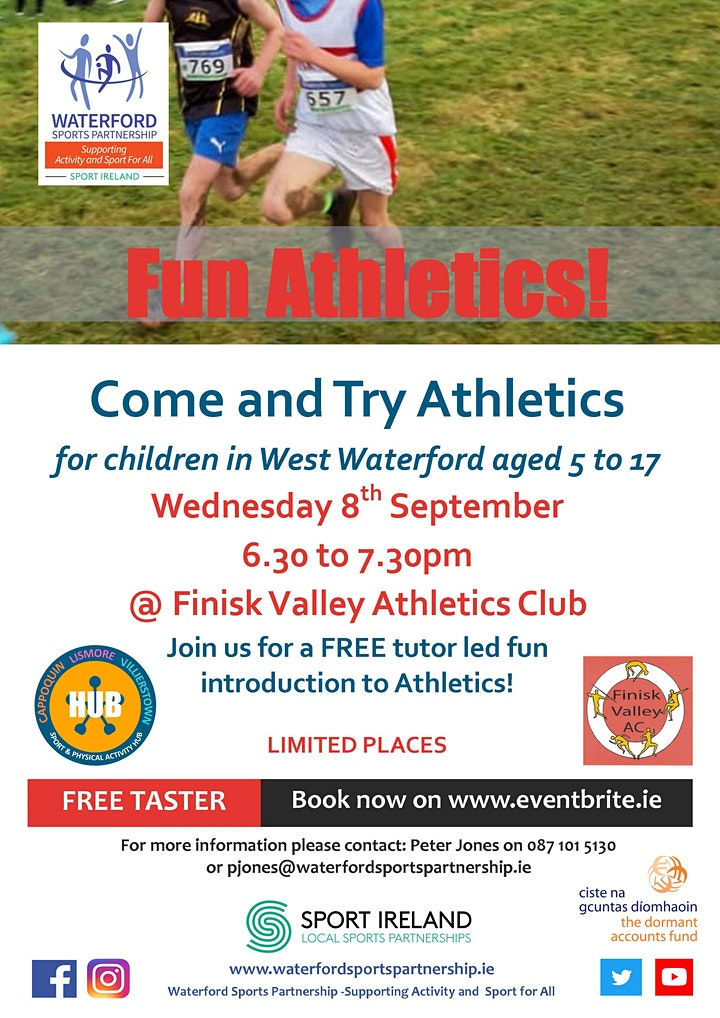 Come & Try Fun Athletics for children aged 5 - 17 in West Waterford image