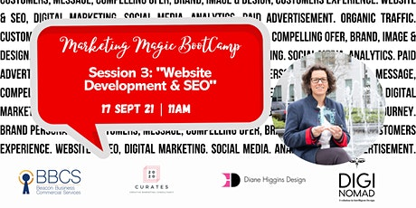 Session 3 - Marketing Magic BootCamp: Developing an Effective Website & SEO tickets