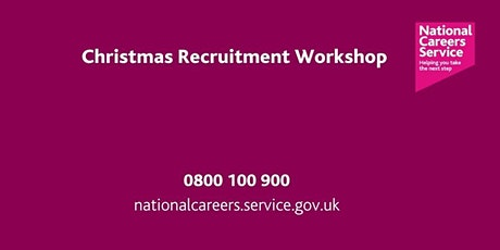 Christmas Recruitment Workshop - Bradford, Keighley & Halifax tickets
