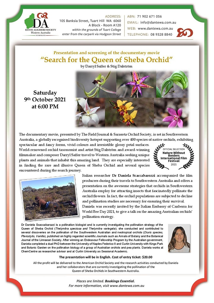 Search for the Queen of Sheba Orchid image
