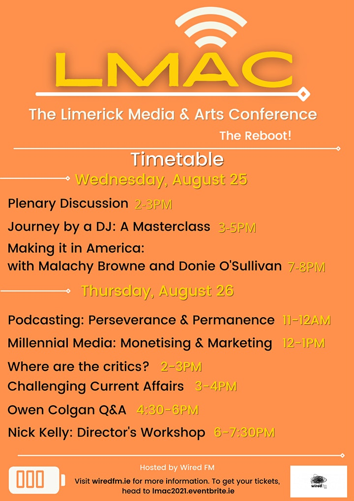 LMAC: Limerick Media & Arts Conference 2021 image