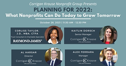 Planning for 2022: What Nonprofits Can Do Today to Grow Tomorrow tickets