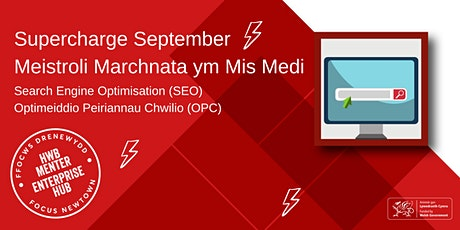 Search Engine Optimisation (SEO) | Optimeiddio Peiriannau Chwilio (OPC) tickets