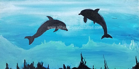 KIDS Paint Dolphin Delight  with Sonia Farrell: Creative Hearts Art tickets