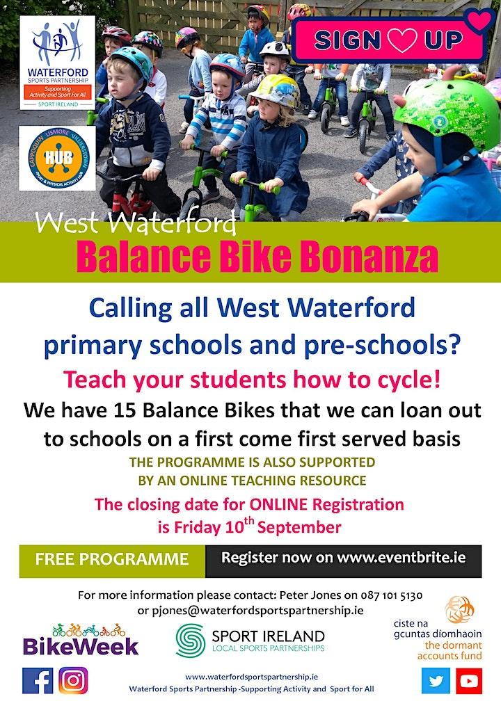 Bike Week - West Waterford Balance Bike Bonanza image
