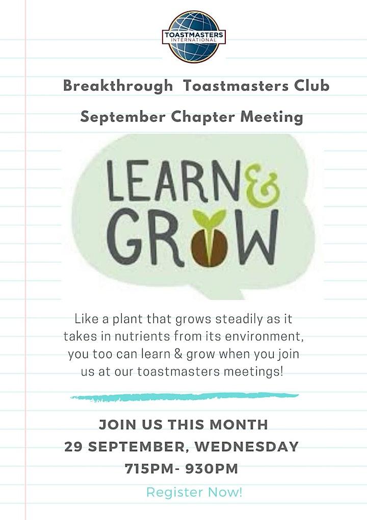 Learn & Grow! @ BTMC Chapter Meeting image