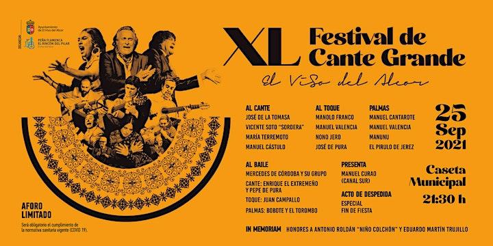 Imagen de XL FESTIVAL DE CANTE GRANDE EL VISO DEL ALCOR