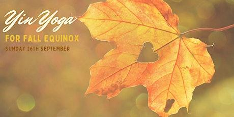 Yin Yoga for Fall equinox tickets