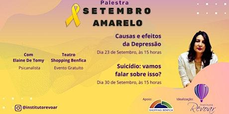 Campanha Setembro Amarelo ingressos