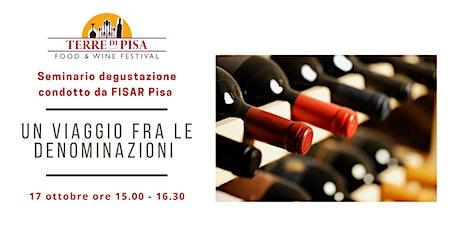 Un viaggio tra le denominazioni - Vittorio Faluomi – FISAR Pisa biglietti