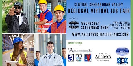 Central Shenandoah Valley REGIONAL Virtual Job Fair (EMPLOYERS ONLY) tickets