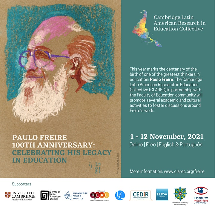 Paulo Freire 100th Anniversary - CLAREC & Faculty of Education (Cambridge) image