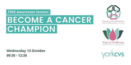 VCSE Training - Become a Cancer Champion tickets