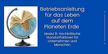 Betriebsanleitung für das Leben auf dem Planeten Erde  - Modul B Tickets