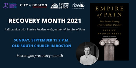 National Recovery Month: Author Talk with Patrick Radden Keefe tickets