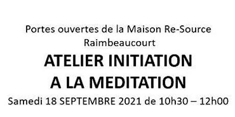 ATELIER INITIATION A LA MEDITATION billets