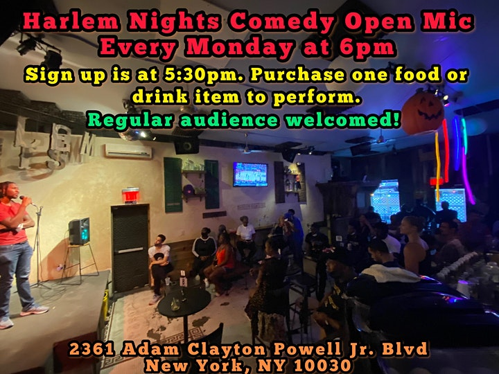Harlem Nights Comedy Open Mic Show image