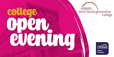West Notts College Open Evening tickets