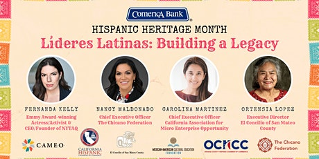 Hispanic Heritage Month - Lideres Latinas: Building a Legacy entradas