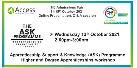 Presentation and Q&A - Apprenticeship Support & Knowledge (ASK) Programme tickets