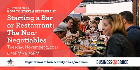 Starting a Bar or Restaurant: The Non-Negotiables tickets