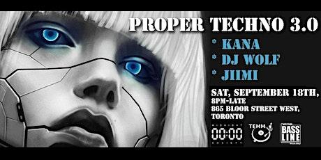 Proper Techno 3.0 tickets