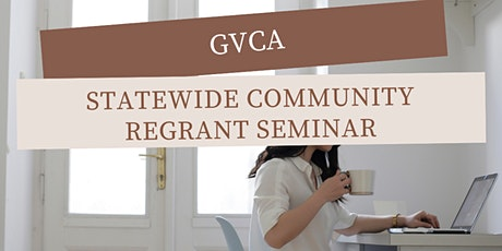 Statewide Community Regrant Seminar tickets