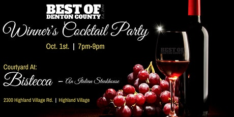 Winner's Cocktail Party - Best Of Denton County 2021 tickets