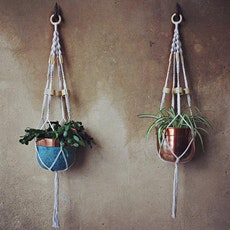 Macramé plant hangers for a greener future tickets