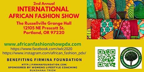International  African Fashion Show & Art Auction tickets