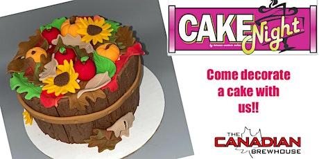 CakeNight- Mahogony Calgary - Fall Barrel Cake tickets