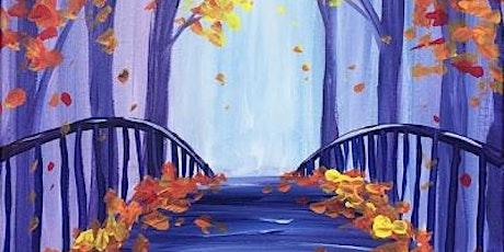 Virtual Paint Night – Fall Leaves on the Bridge tickets