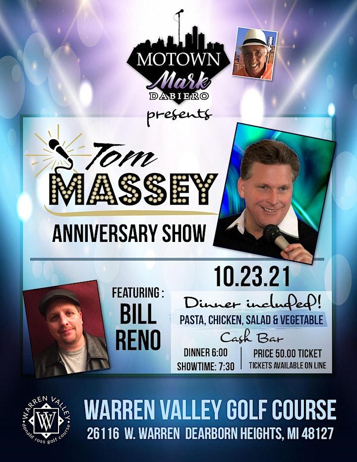 Motown Mark Presents The Tom Massey Anniversary Show & featuring Bill Reno image