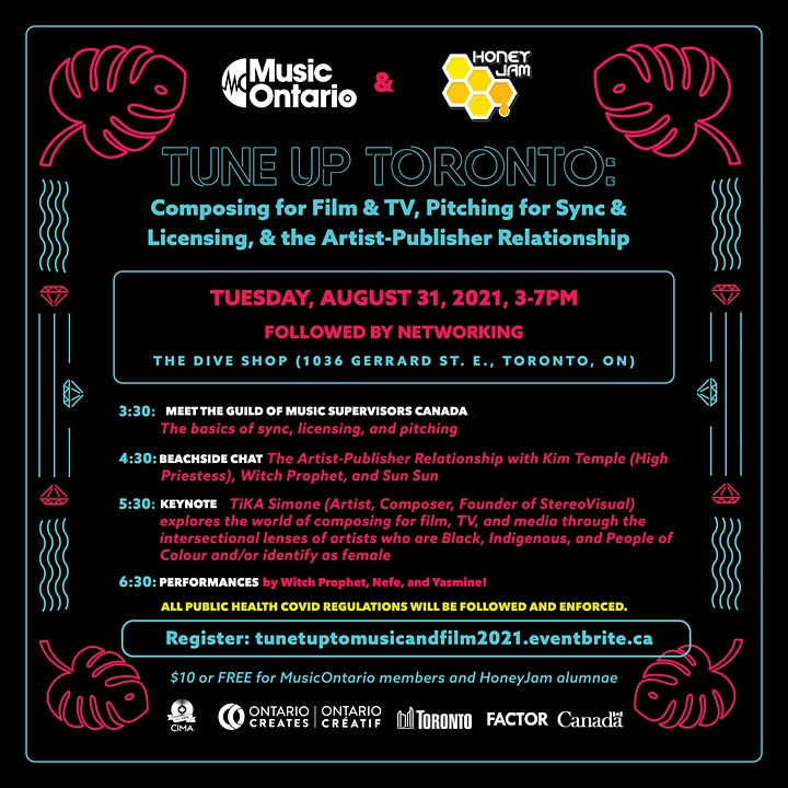 MusicOntario & HoneyJam present Tune Up Toronto: Composition for Film & TV image