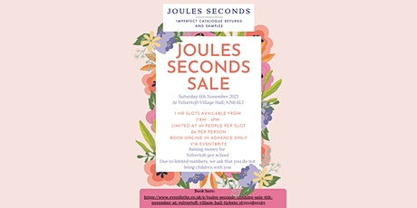 Joules Seconds Clothing sale 6th November at Yelvertoft Village Hall tickets