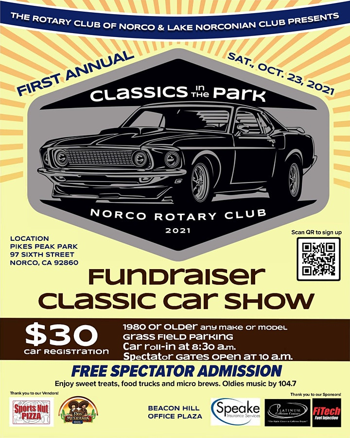 """""""Classics in the Park"""" by Rotary Club of Norco image"""