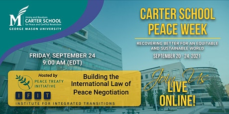 Building the International Law of Peace Negotiation tickets