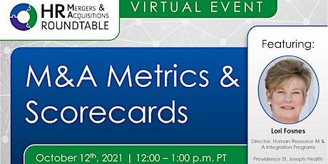M&A Metrics & Scorecards tickets
