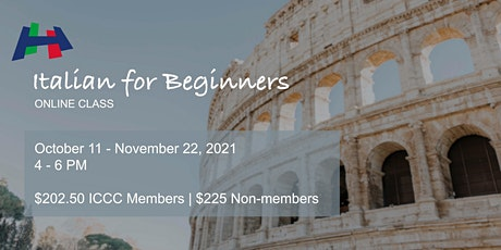 Italian for Beginners - A1S1 (Online Class) tickets