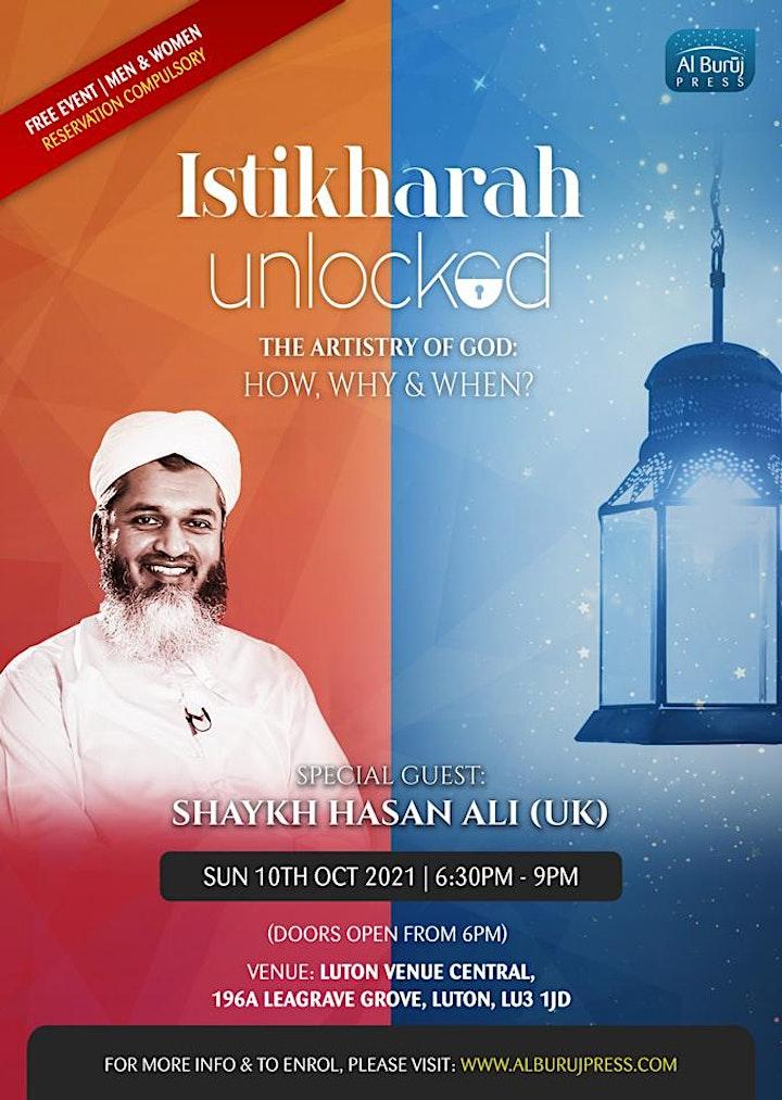 Istikharah Unlocked with Shaykh Hasan Ali: LUTON: FREE! image
