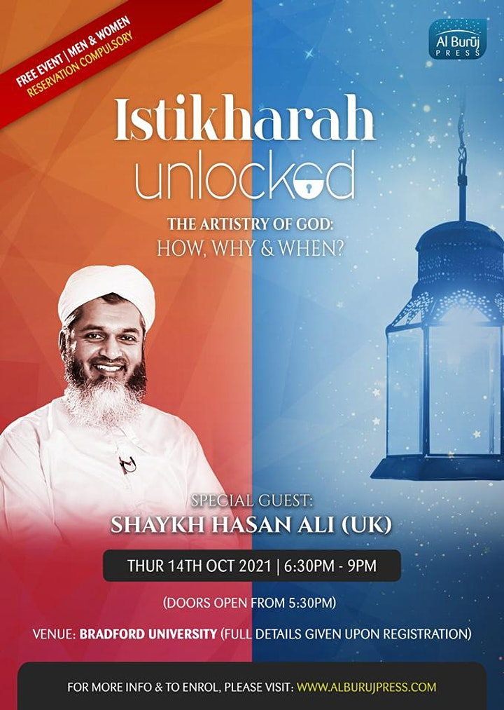 Istikharah Unlocked with Shaykh Hasan Ali: BRADFORD: FREE! image