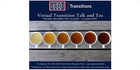 USO Transitions Facebook Live: Transition Talk and Tea with the Team tickets