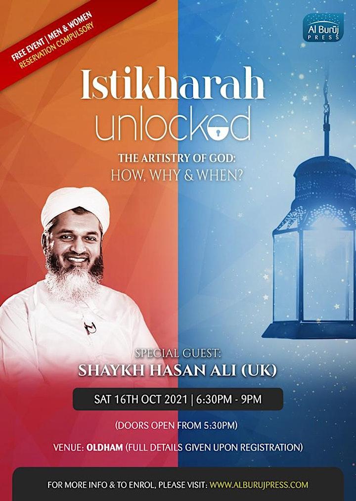 Istikharah Unlocked with Shaykh Hasan Ali: OLDHAM: FREE image