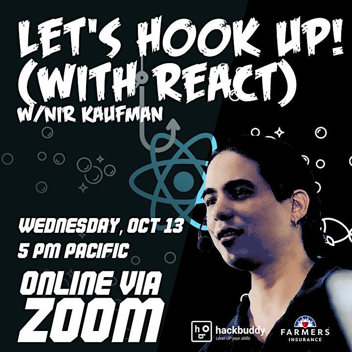 Let's hook up! (with React) w/Nir Kaufman image